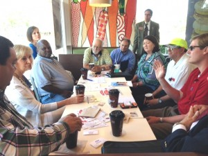 Commissioner Murman hosts a morning Coffee with the Commissioner event in South Tampa at McDonalds restaurant. Community leaders discussed transportation over coffee.