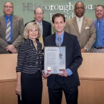 Commissioner Sandy Murman proclaims Moffitt Business of Biotech Day in Hillsborough County at a meeting of the BOCC.