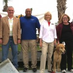 Commissioner Sandy Murman attends the Grand Opening of the Northwest Skate Park at Jackson Springs along with Hillsborough County Parks and Recreation staff and her loyal assistant, Rocky.