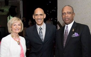 Commissioner Sandy Murman attends the Pepin Academies Community Gala with Tony Dungy and Commissioner Les Miller.
