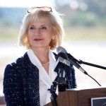 Sandy speaks during the groundbreaking for the Florida Conservation/Technology Park, calling the public/private partnership a beautiful marriage between environment, technology and recreation.