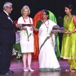 Sandy was the Chief Guest of Honor and speaker at the India Independence Day event with Satish K. Sharma, president of the FIA of Tampa Bay and Dr. Madhavi Sekharam, Chairperson.
