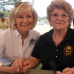 Sandy spends some time with Rosemarie Middleton, President of the Twelve Oaks Civic Association at the group's picnic at Morgan Woods school.