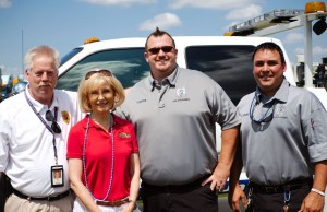Sandy spends time with Hillsborough County Code Enforcement at the 2014 Islands Fest.