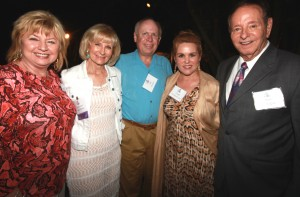 Sandy and her husband Jim Murman, take a moment with Sherry Silk and Linda and Dick Greco at the Paws for a Cause event on Davis Island.