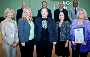 Commissioner Murman proclaimed Small Business Week in Hillsborough County at a recent BOCC meeting by honoring Mojo Books & Music of Tampa. The business' owner, Melanie Cade, was on hand to receive the commendation.