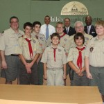 Sandy honors Boy Scout Troop 315 for more than 40 years of service to Wesley Memorial United Methodist Church