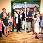 Commissioner Sandy Murman and Commissioner Ken Hagan help cut the ribbon at the grand opening of the Westchase Recreation Center.