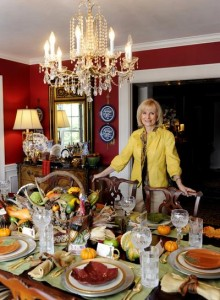 Sandy sets the table for Thanksgiving in this photo that appeared in the Tampa Tribune