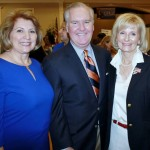 Commissioner Sandy Murman stops for a moment with State Rep. Janet Cruz and Mayor Bob Buckhorn during the West Tampa Job Fair at Higgins Hall.