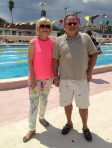 Commissioner Sandy Murman and Tampa City Councilman Harry Cohen attend the Davis Islands Jenkins Pool Grand Re-Opening event sponsored by the City of Tampa.