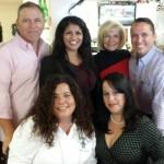 Commissioner Sandy Murman at Arco Iris Cafe with Vivian Santiago McIlrath, Tony Morejon, Marilyn Alvarez, Shanida De Gracia, Julia Palacios, Danny Alvarez Sr. and Norma Camero Reno.
