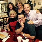 Hillsborough County Commissioner Sandy Murman at Arco Iris Cafe with Norma Camero Reno, Raquel Ache, Danny Alvarez Sr. and Jonathan Torres.