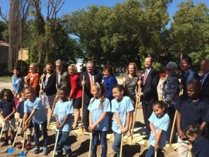 Commissioner Sandy Murman, City Councilman Harry Cohen, Superintendent Mary Ellen Elia and a host of others break ground for Metropolitan Ministries School in a partnership with Hillsborough County Schools.