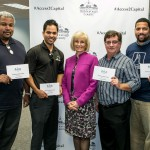 Sandy recognized Stuart Pinnock, Tony Selvaggio, Kyle Chastain and Luther Palmer at the Access to Capital Summit hosted by Hillsborough County.