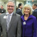 County Commissioner Sandy Murman stands with Scott Smith, President of St. Joseph's Hospital-South at a recent preview of the 360,000 square-foot facility at its new 72-acre campus in South Hillsborough County.