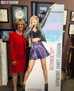 Sandy welcomed music sensation Taylor Swift to Hillsborough County for her performance at Raymond James Stadium.