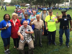 Commissioner Sandy Murman was on hand during Seniors Day in MacFarland Park for a plethora of activities.