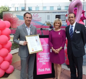 Commissioner Sandy Murman recognized the American Cancer Society during the Think Pink event she hosted at County Center.
