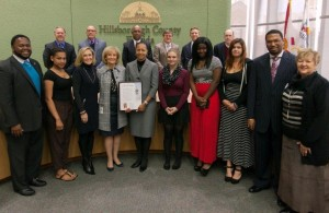 Commissioner Sandy Murman proclaimed January 24-29, 2016 as Children's Week in Hillsborough County, urging all residents to acknowledge the importance of community involvement in meeting the needs of children and their families.