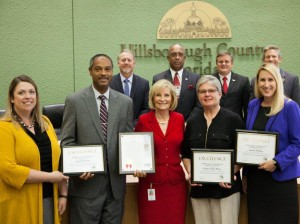 Sandy honors Hillsborough County's Economic Development department's Manufacturing Academy for receiving the Florida Career Pathways Networks Best Practice Award.