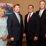 Commissioner Sandy Murman meets with Florida Commissioner of Agriculture Adam Putnam at a Greater Tampa Chamber of Commerce breakfast event.