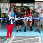 Commissioner Sandy Murman cut the ribbon for the NAPA Auto Parts grand re-opening on west Hillsborough Avenue . NAPA management and Tampa Bay Buccaneer Cheerleaders were on hand for the event.