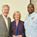"""Commissioner Murman and Preston Cook, Emergency Management Director for Hillsborough County, speak to the South Tampa Chamber of Commerce. They were presenting Sandy's """"Get Ready!"""" Hurricane Prep Talk to businesses and the community."""