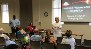 Commissioner Murman hosts her annual Get Ready! Hurricane Prep Talk at the Town 'n Country Library with Preston Cook, County Emergency Management Director.