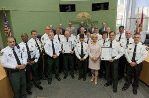 Sandy Murman proclaimed Patriot Day in Hillsborough County to honor first responders who sacrificed their lives during the tragedies of September 11, 2001. Members of the Hillsborough County Sheriff's Office and Hillsborough County Fire Rescue were on hand to accept proclamations.