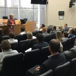 Commissioner Sandy Murman spoke to Associated Builders and Contractors Gulf Coast Chapter Next Generation during its Political Day at County Center downtown about our roles in Hillsborough County government.