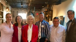 """Sandy and her staff hosted her """"Coffee with the Commissioner"""" event at DI Coffee Bar on the Davis Islands where she met with local residents and business leaders to discuss issues over coffee."""