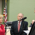Commissioner Sandy Murman takes the oath of office after being re-elected to her District 1 seat on the Hillsborough County Board of County Commissioners.