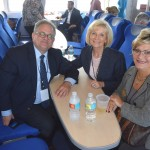 Commissioner Sandy Murman takes the inaugural run of the Cross Bay Ferry with Tampa City Councilman Harry Cohen and Pinellas County Commissioner Janet Long.