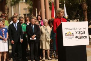 Commissioner Sandy Murman speaks on differences in pay between men and women.