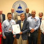 """Commissioner Sandy Murman proclaimed May 13 through May 19, 2018 as Hillsborough County Hurricane Preparedness Week, and urged all residents to learn how to """"Get Ready!"""" for the upcoming storm season. On hand for the proclamation presentation were Mike Ryan, Deputy Director of Emergency Management, Joe Mastandrea, Dave Paloff and Ted Williams, part of the Hillsborough County Emergency Management team."""